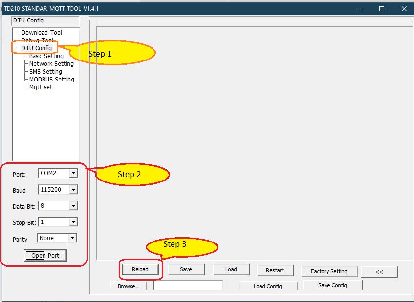 bivocom TD210 connection step1