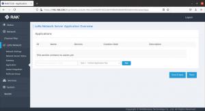 Lora network server setting