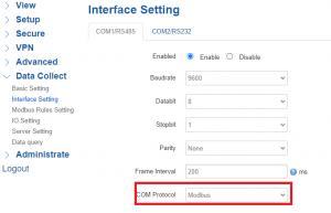 Interface Setting